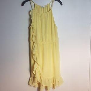 Reitman's yellow sun dress lemon print SZ 11